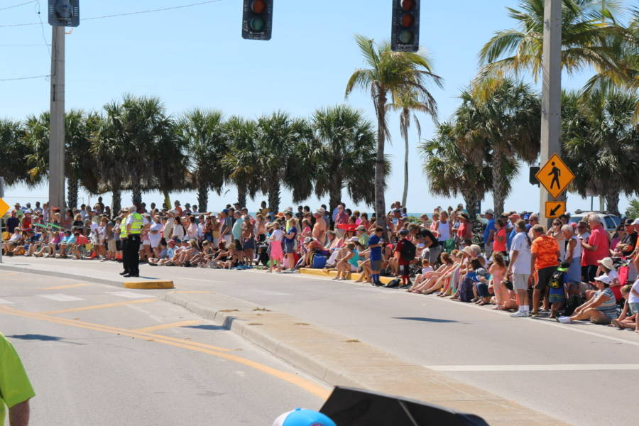 parade watchers on estero blvd