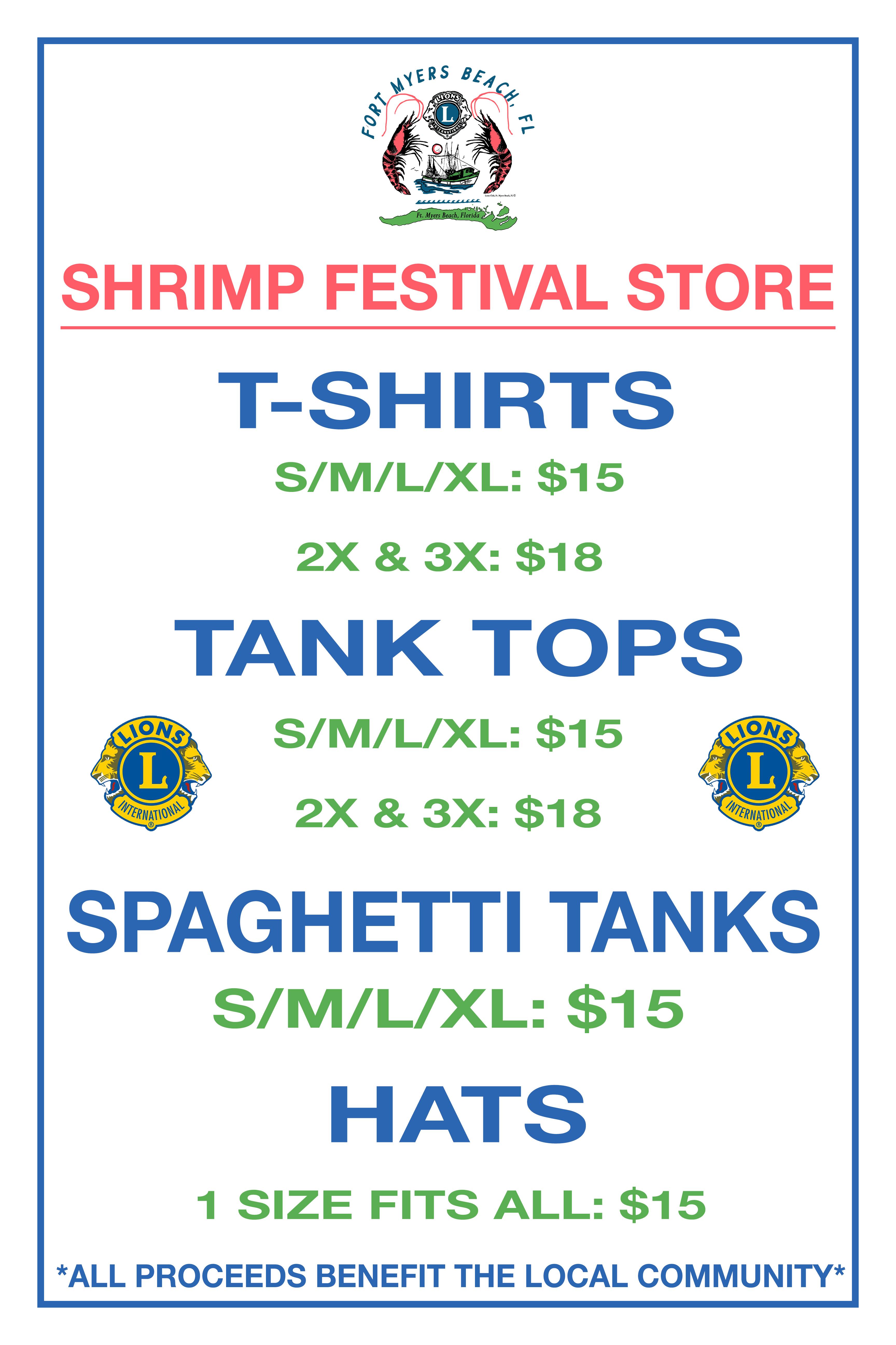 shrimp festival t-shirt