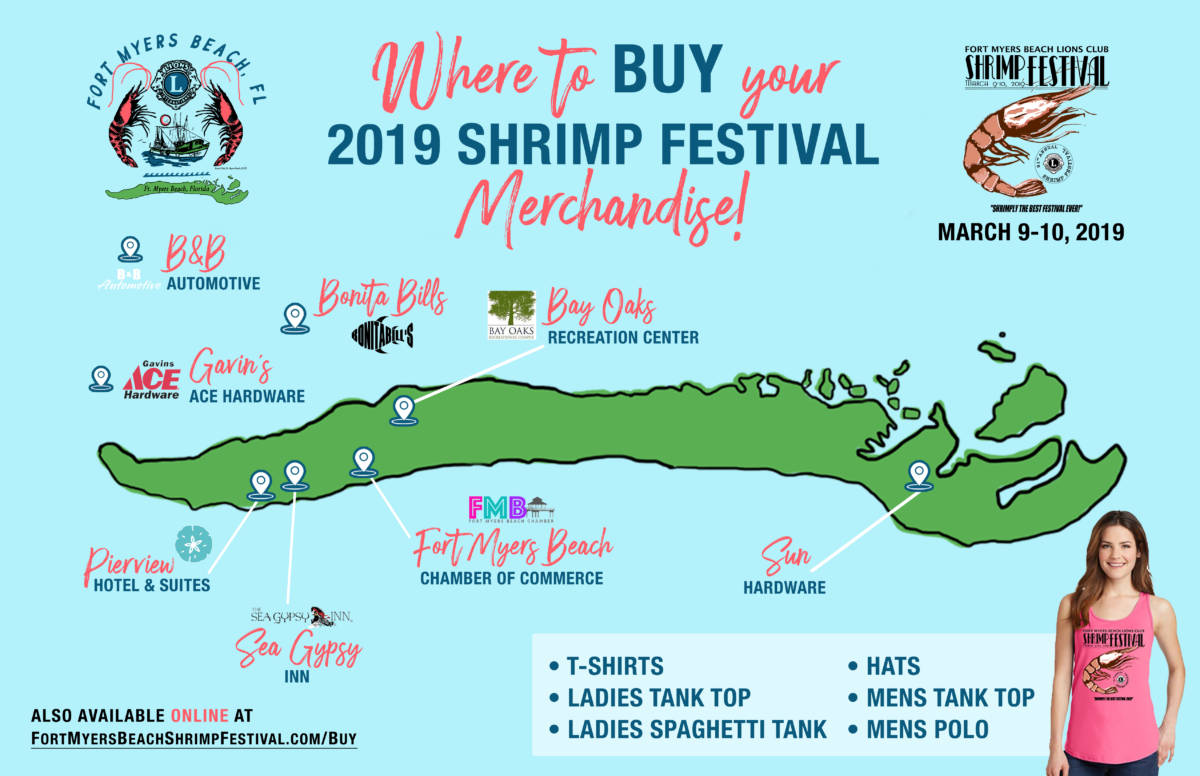Shrimp Festival Merchandise Locations