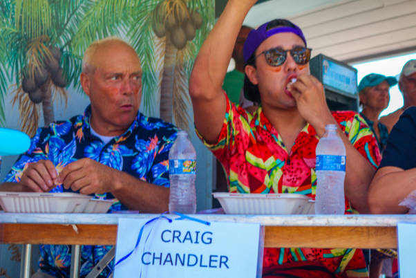 beach shrimp eating championship contestant craig chandler